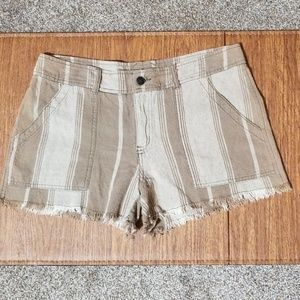 Free People Striped Shorts - Size 8